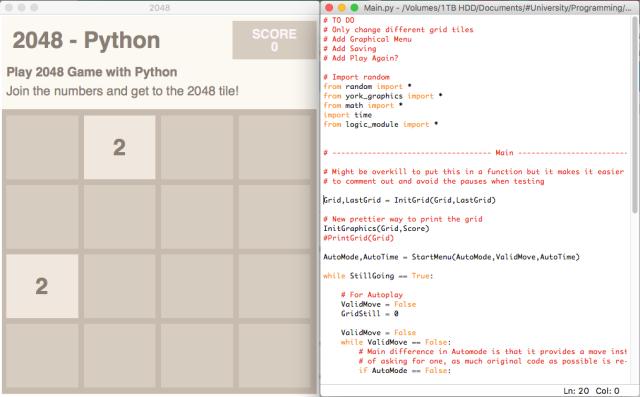 2048 (Python Clone) – George Harris